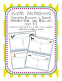 Math Notebooks Comparing Numbers in English and Spanish