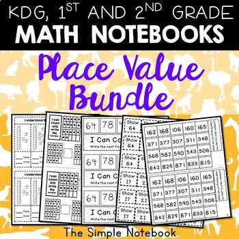 Math Notebooks: Place Value Bundle