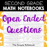 Math Notebooks: Second Grade Open-Ended Questions