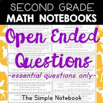 Math Notebooks: Second Grade Open-Ended Questions (essential questions only)