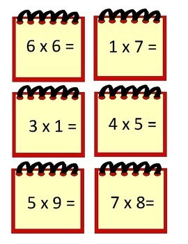 Math- Addition/Subtraction - Notepad Math Facts