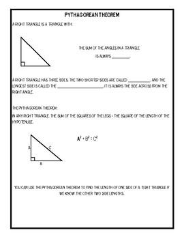 Math Notes: Pythagorean Theorem