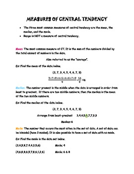 Math Notes for Middle School Students