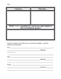 Math Notice and Wonder Graphic Organizer with Writing Connection