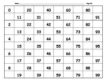 Math Numbers 0-99 - 120 Worksheets Add Missing Numbers by Deborah Brown