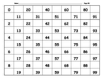 Math Numbers 0-99 - 120 Worksheets Add Missing Numbers