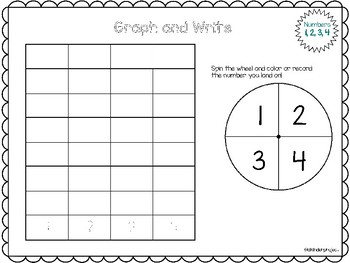 Math Numbers 0-20 Spin and Graph * No Prep!