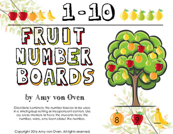 Math Number Boards