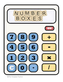 Math Number Boxes 0 - 5 FREEBIE