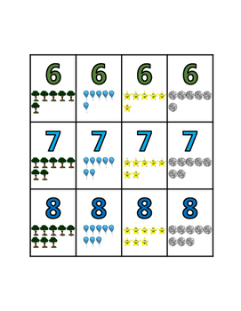 Math Number Cards 0 to 50