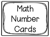 Math Number Cards 1-120