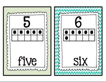 Math Number Posters (Numbers 1-20)