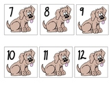 Math Number Center 1-15 (dogs/bones)