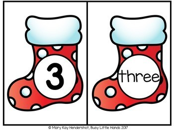 Christmas Math Number Centers