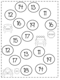 Math Number Game for Teens (11-19)
