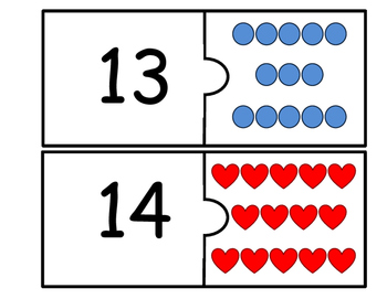 Math Number Identification Puzzle Cards (11-20)