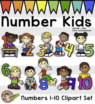 Math Number Kids - Clip Art