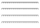 Math Number Line Blanks
