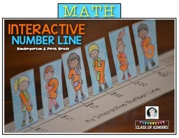 Math Number Line {Interactive} for Kindergarten & First Grade