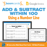 Math Number Lines 2nd Grade | Interactive Boom Cards™ and