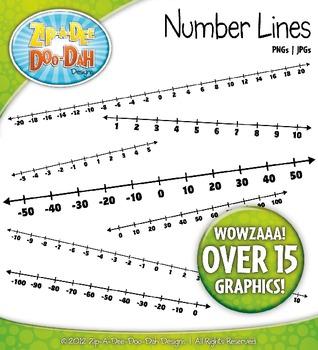 Math Number Lines Clipart {Zip-A-Dee-Doo-Dah Designs}