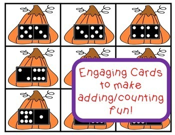 Math Centers Number Sense Pumpkin Math Game