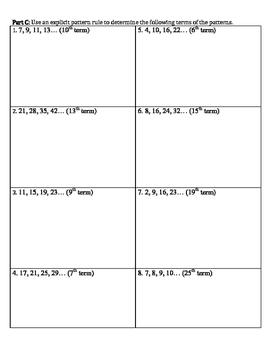 Math: Number Pattern Quiz