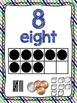 Math Number Posters 0-20 (Purple and Blue)