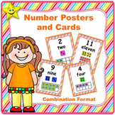 Number Posters and Cards, Combinations