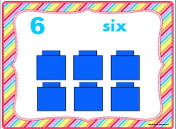 Number Posters and Cards, Counting Cubes