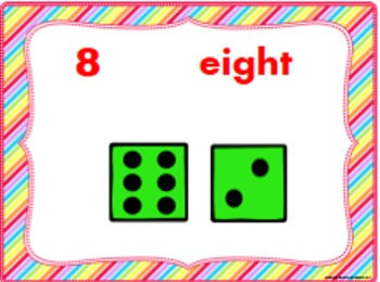 Number Posters and Cards, Dot Cube Dice