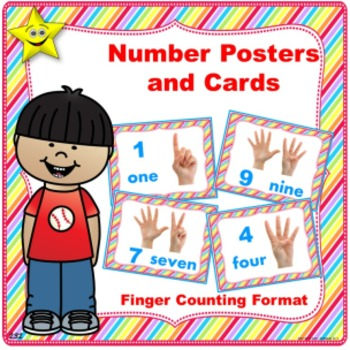 Number Posters and Cards, Finger Counting