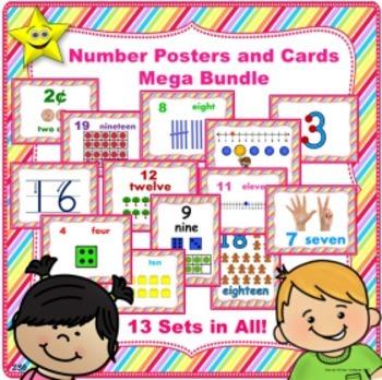 Number Posters and Cards Mega Bundle