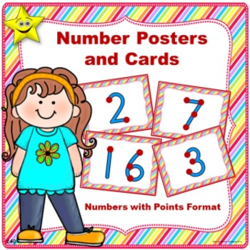 Number Posters and Cards, Numbers with Points
