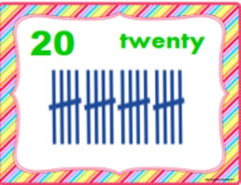 Number Posters and Cards, Tally Marks