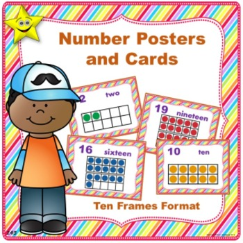 Number Posters and Cards, Ten Frames
