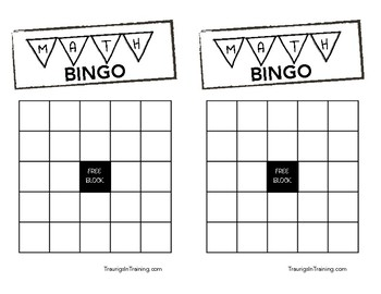 Math & Number Recognition Bingo