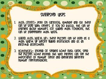 Math Number Representation Puzzles 1-30