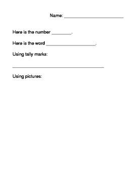 Math Number Representation Worksheet