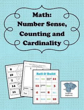 Math: Number Sense, Counting, and Cardinality