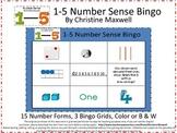 Math Number Sense Forms Bingo 1-5