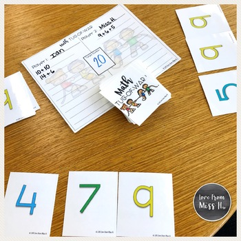 Math Number Sense Game: Math Tug-of-War