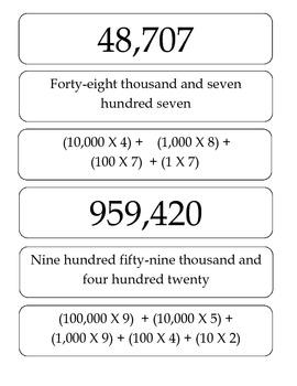 Math: Number Sense: Place Value: Number Hunt Game