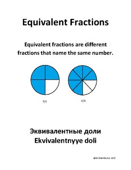 Math Number Sense Word Wall English to Russian