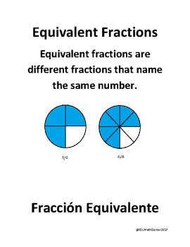Math Number Sense Word Wall English to Spanish