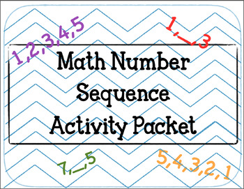Math Number Sequence Activity Packet