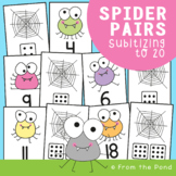 Subitizing Number Match Center Game - Spider Lines