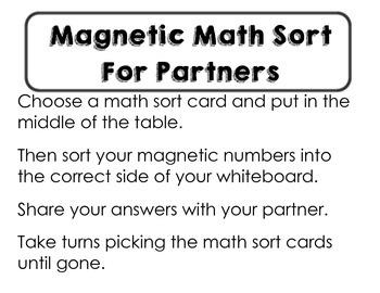 Math Number Sort Cards