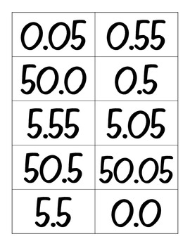 Math Number Sort: Ordering Decimals