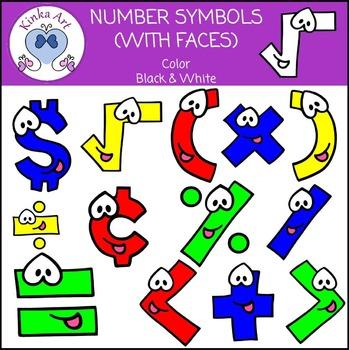 Math / Number Symbols Clip Art